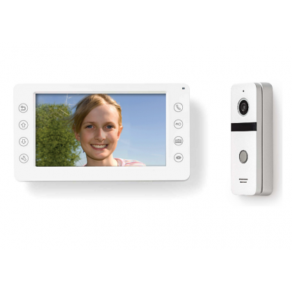 Video deurintercom set 95 graden aluminium